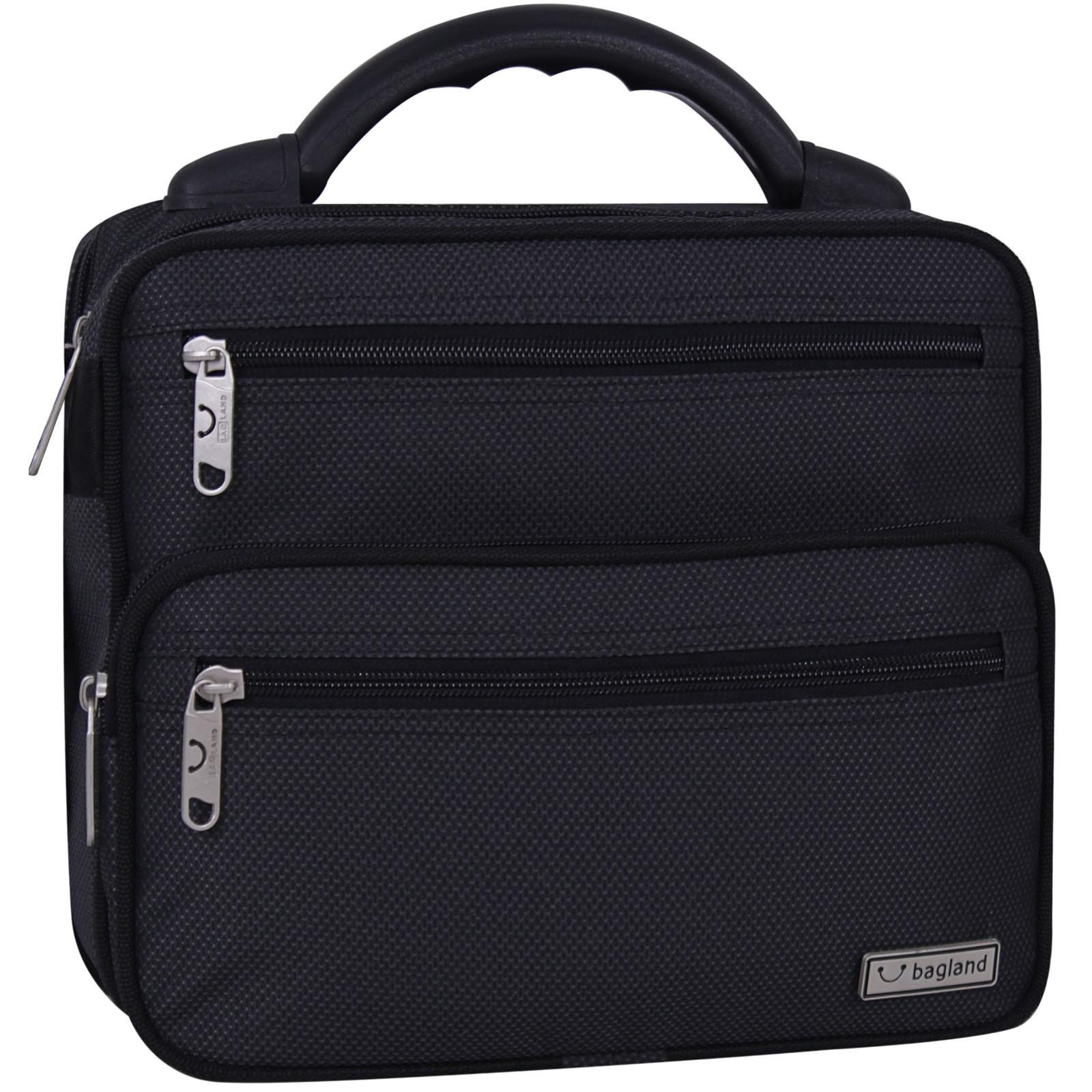 Сумки через плечо Мужская сумка Bagland Mr.Braun 8 л. Чёрный (00240169) IMG_9425-1600.jpg