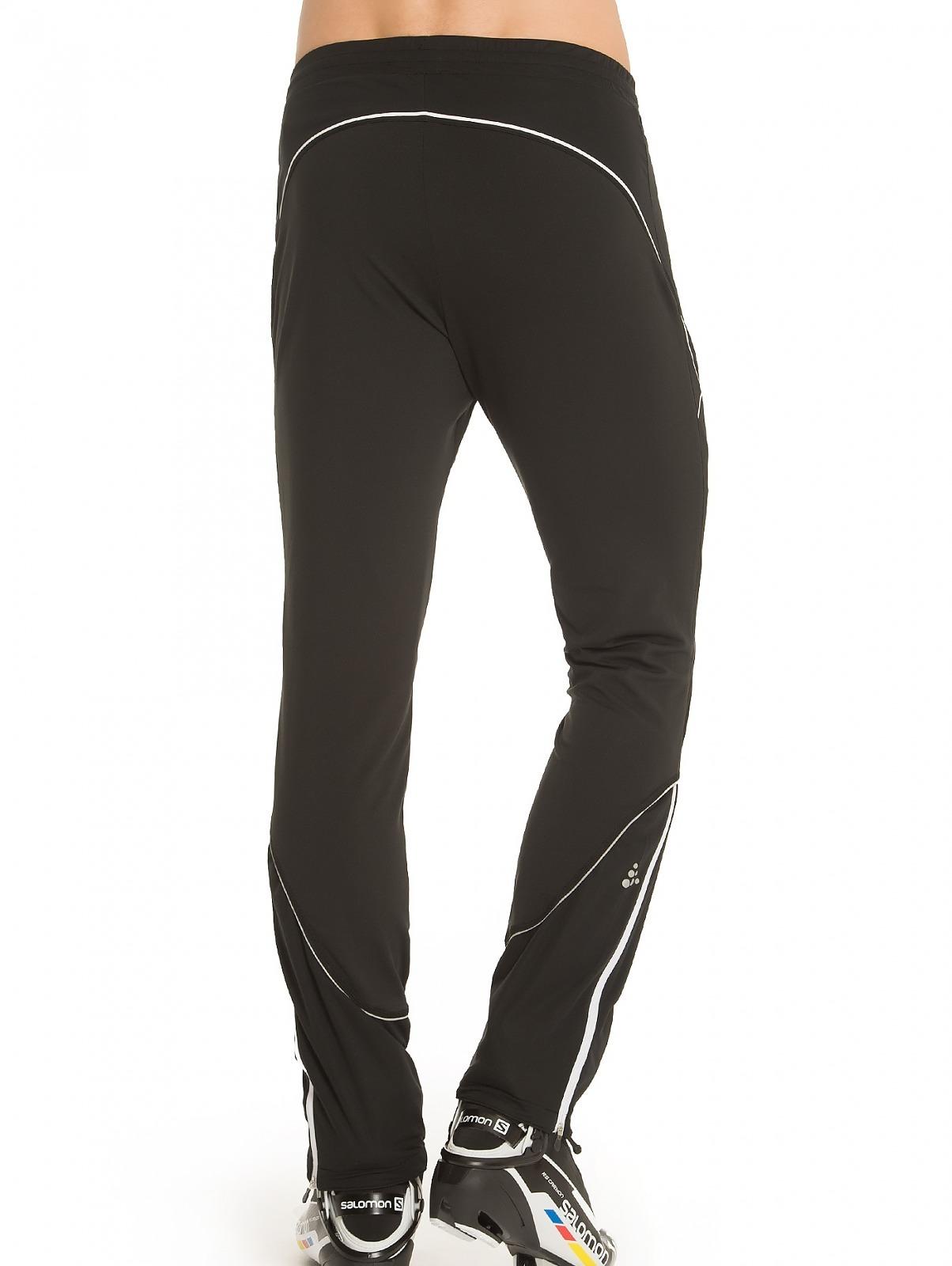 Элитный тренировочный костюм для бега зимой Craft High Function черный