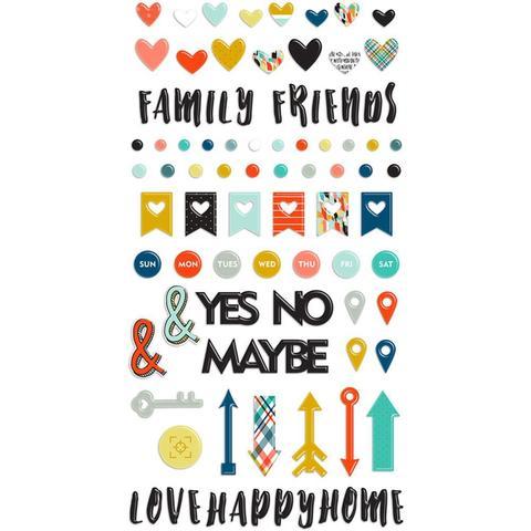 Объемные стикеры Family & Co. Puffy Stickers