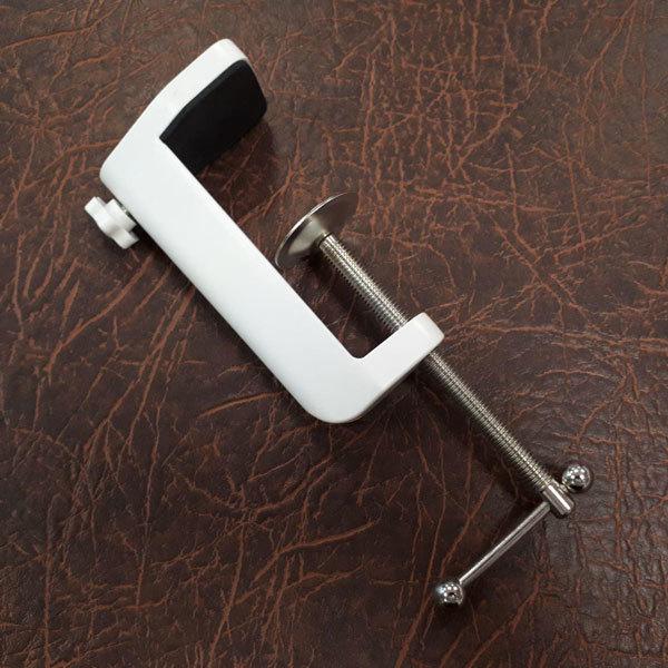 Косметологические лампы, лампы-лупы, очки косметолога Струбцина для лампы-лупы 10 см Струбцина-для-крепления-к-кушетке-белая.jpg