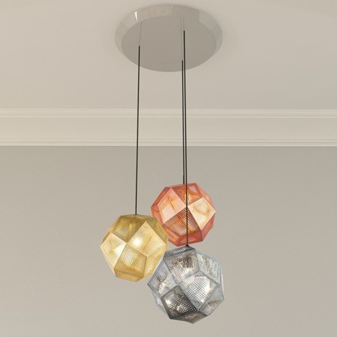 Etch 3 Light Multipoint Pendant By Tom Dixon, from Tom Dixon