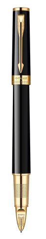 Ручка Пятый пишущий узел Parker INGENUITY, цвет - чёрный\золото, декоративное перо