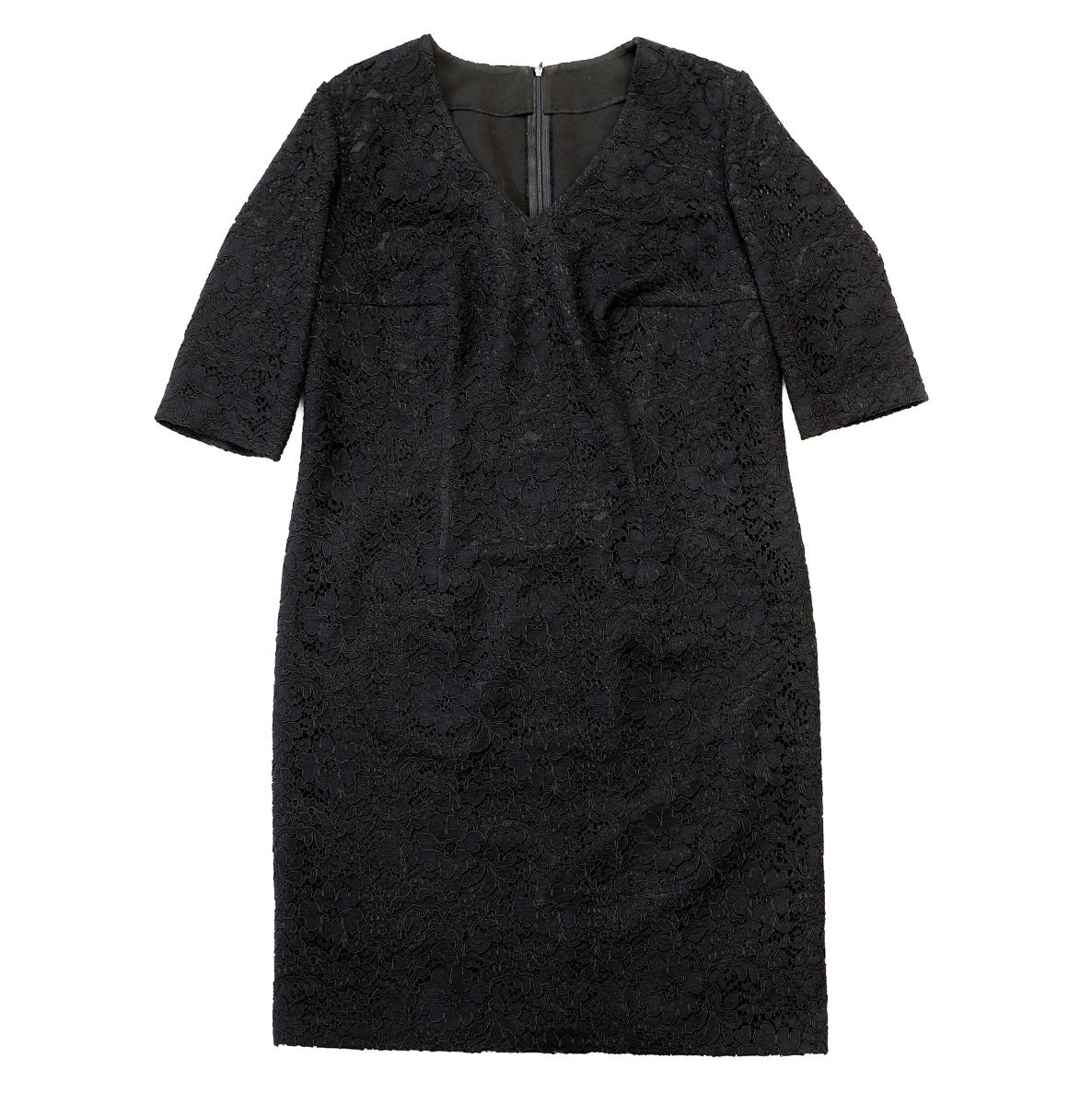 Кружевное платье на креповой основе