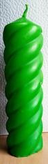 Свеча № 2 зеленая парафиновая