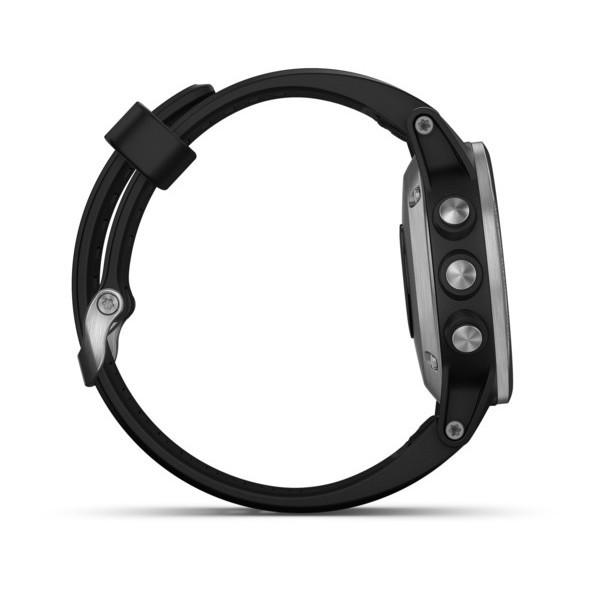 Fenix 5s Plus черные с черным ремешком