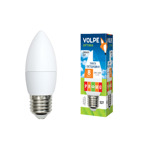 LED-C37-8W/DW/E27/FR/O Лампа светодиодная. Форма