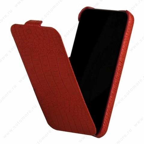 Чехол-флип Borofone для iPhone 5C - Borofone Crocodile Flip case Image series Red