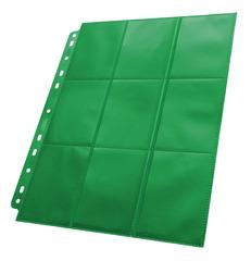 Ultimate Guard - Зеленый двухсторонний лист для альбома на кольцах 3х3