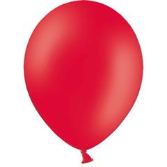 Шар (5''/13 см) Красный, пастель, 100 шт.