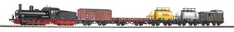 Piko 57120-S Стартовый набор модельной железной дороги «Грузовой состав DR» с парогенератором, 1:87