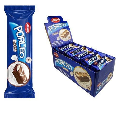 PORLEO кекс с молочным кремом, покрытый молочным шоколадом 1кор*6бл*24шт 25гр.