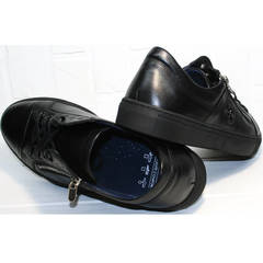 Спортивные туфли мужские натуральная кожа Ікос 1528-1 Black