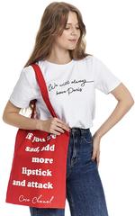 Сумка шоппер красная