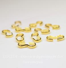 Коннектор простой 13х6 мм (цвет - золото), 10 штук