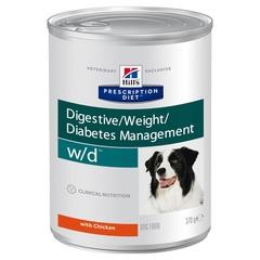 Hill's Prescription Diet w/d Digestive влажный диетический корм для собак при поддержании веса и сахарном диабете, с курицей 370 г