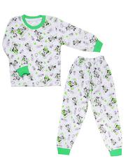 643-3 пижама детская, зеленая