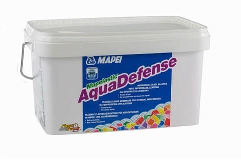 Mapei Aquadefense/Мапей Аквадефенс быстросхватывающаяся жидкая эластичная мембрана для гидроизоляционных работ внутри и снаружи помещений
