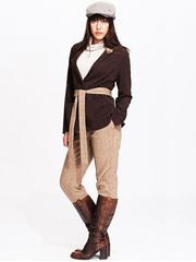 KR1071-6 жакет женский, коричневый