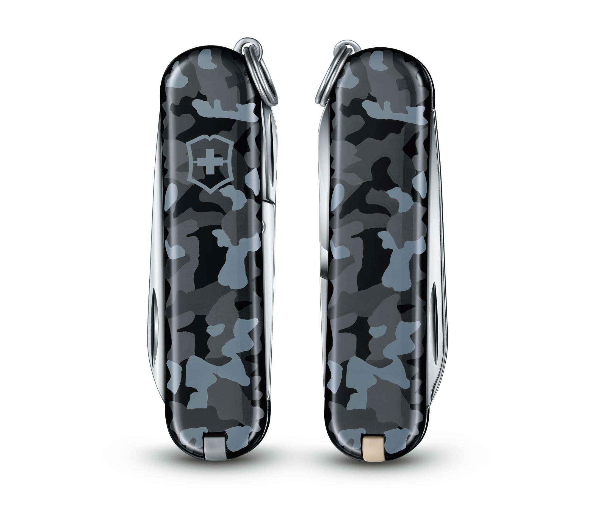 Складной нож-брелок Victorinox Classic Navy Camouflage (0.6223.942) 58 мм., 7 функций - Wenger-Victorinox.Ru