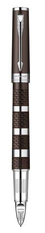 Ручка Пятый пишущий узел Parker INGENUITY, цвет - коричневый\хром, декоративное перо