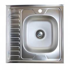 Мойка КромРус EC-209 для кухни из нержавеющей стали, левая