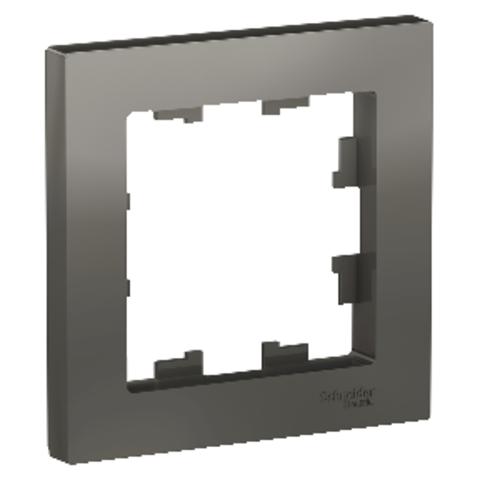 Рамка на 1 пост. Цвет Сталь. Schneider Electric AtlasDesign. ATN000901