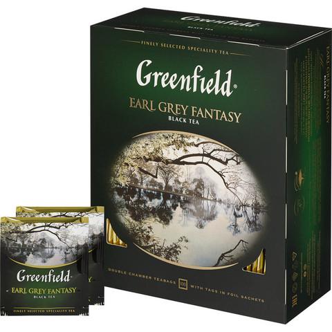 Чай Greenfield Earl Grey Fantasy черн.фольгир 100 пак/уп