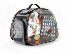 Складная сумка-переноска для собак и кошек до 6 кг, Ibiyaya, прозрачная