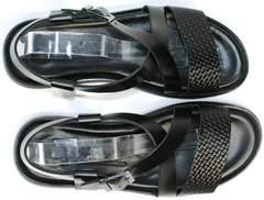 Красивые черные босоножки мужские Roberto Verbano 74609 Black.