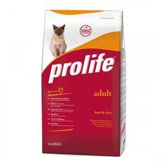 Сухой корм для кошек, Prolife Cat Adult, с говядиной и рисом
