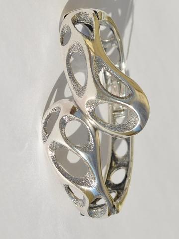 Кратеры (серебряный браслет)