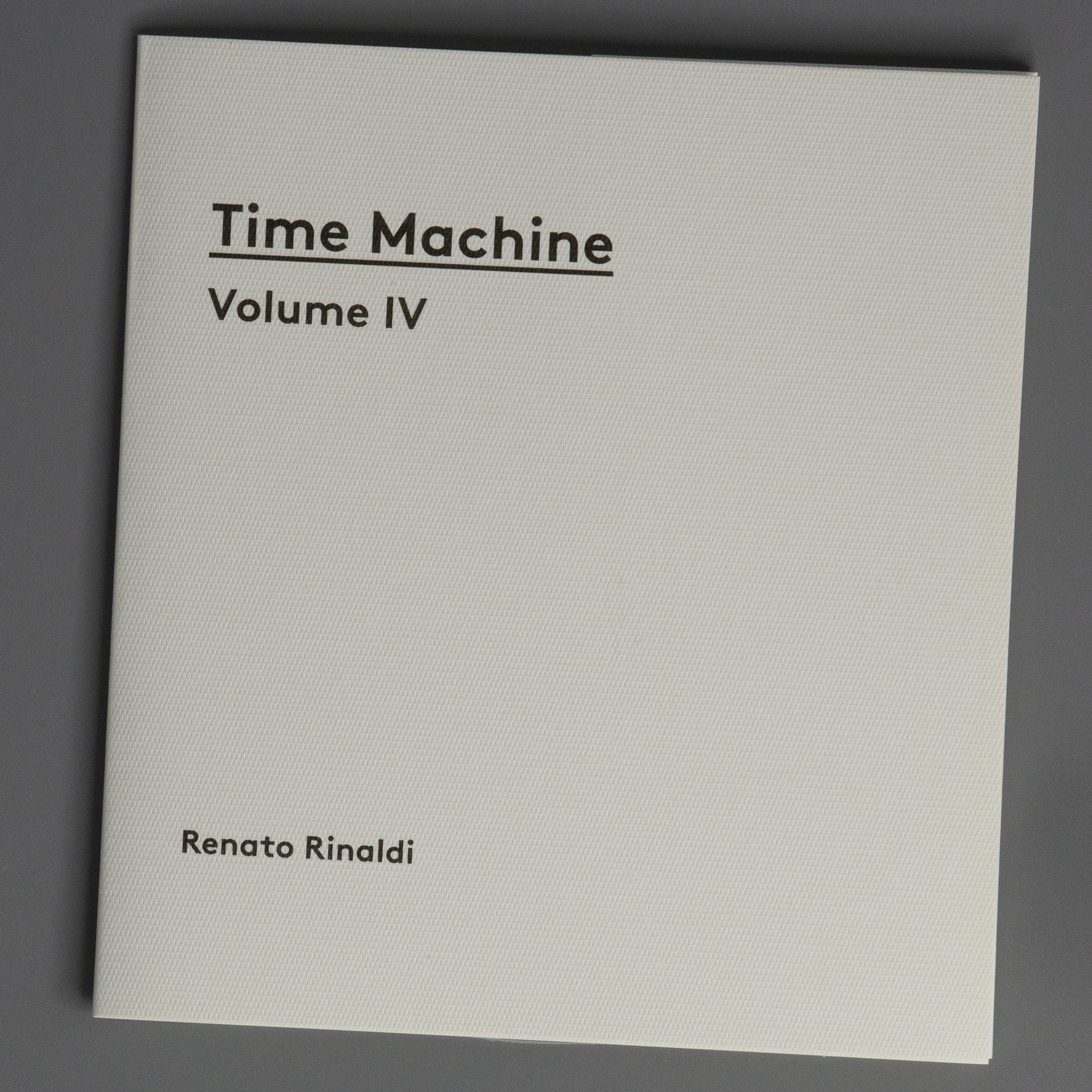Time Machine. Volume IV
