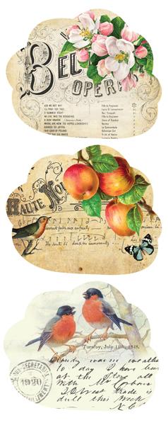 Водорастворимая бумага Дерево: винтажные сезоны