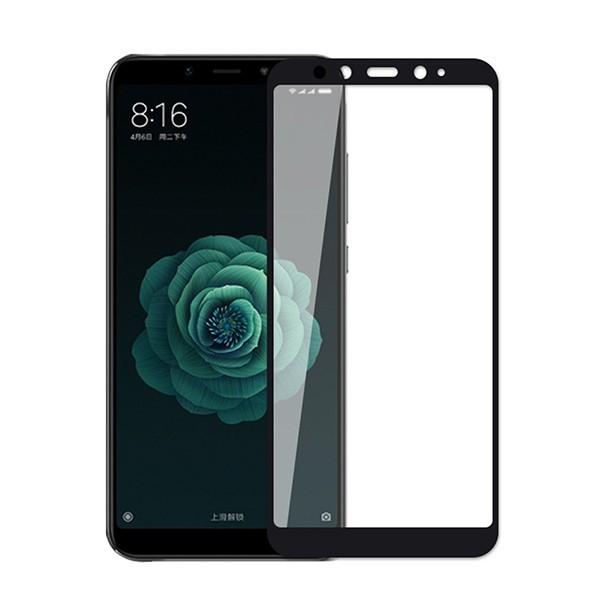 Стекло защитное 5d для Xiaomi Mi A2 (черный)