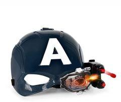 Стреляющая маска Капитана Америки (со световым эффектом)