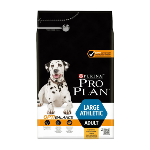 Purina Pro Plan Adult Optibalance Large Athletic Сухой корм для собак крупных пород с атлетическим телосложением с курицей и рисом