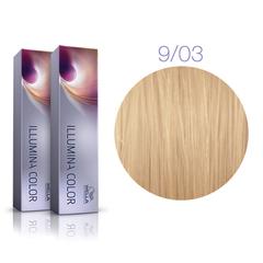 Wella Professional Illumina Color 9/03 (Очень светлый блонд натуральный золотистый) - Стойкая крем-краска для волос