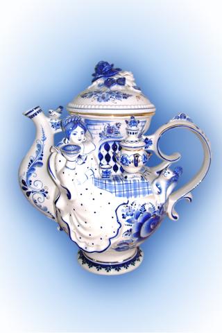 Чайник Боярыня в золоте