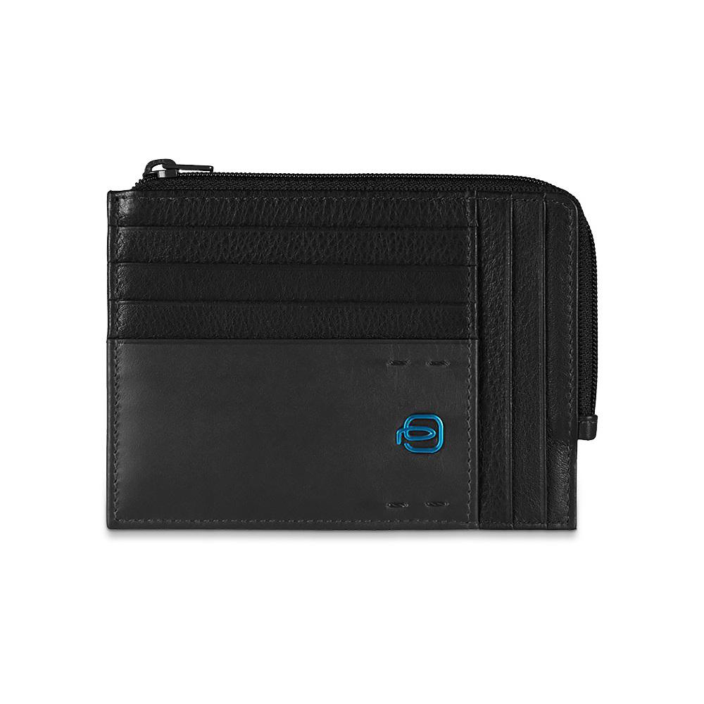 Чехол для кредитных карт Piquadro Pulse, цвет черный, 12х9х1см (PU1243P15/N)