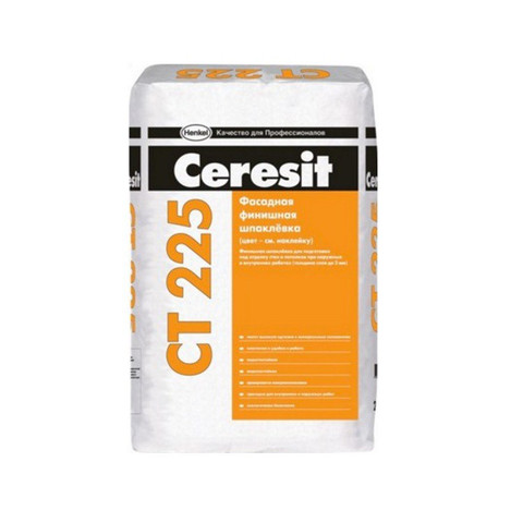 Шпаклевка фасадная финишная белая СТ225 25кг Ceresit