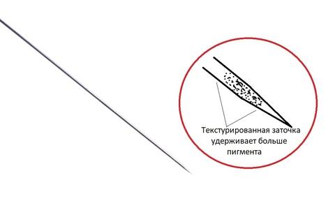 Текстурированная игла 1R (50 штук)
