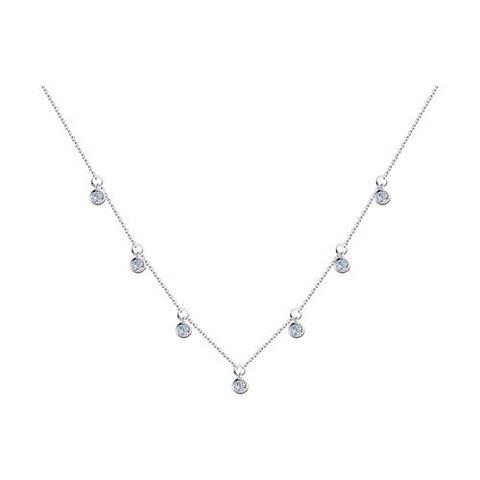 94070351 - Колье из серебра с фианитами