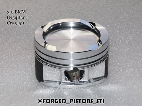 Поршни СТИ BMW 3,0l N54B30 (CR=9,5) кольца 1,5/1,5/2,0