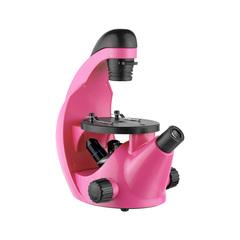 Микроскоп школьный Микромед Эврика 40х-320х инвертированный (фуксия)