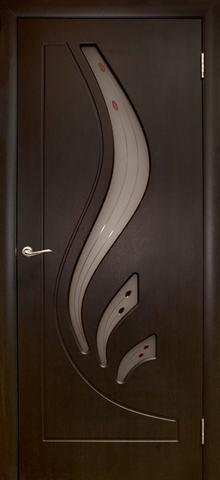 Дверь Дубрава Сибирь Лилия, цвет венге, остекленная