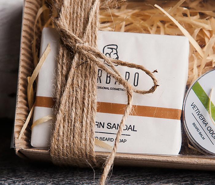 RAZ2003 Подарочный набор для ухода за бородой, мыло и бальзам от Barbaro фото 03