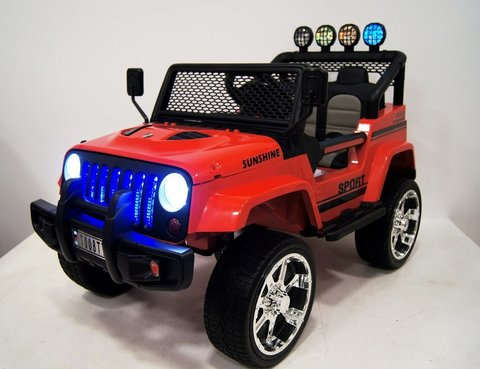 Электромобиль RiverToys Jeep T008TT красный