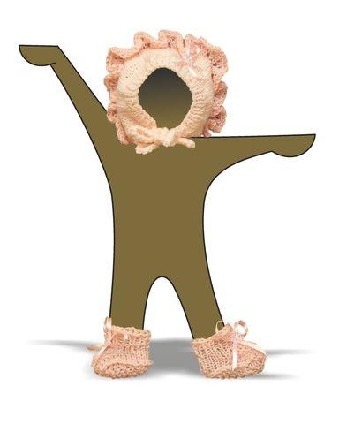 Капор - Демонстрационный образец. Одежда для кукол, пупсов и мягких игрушек.