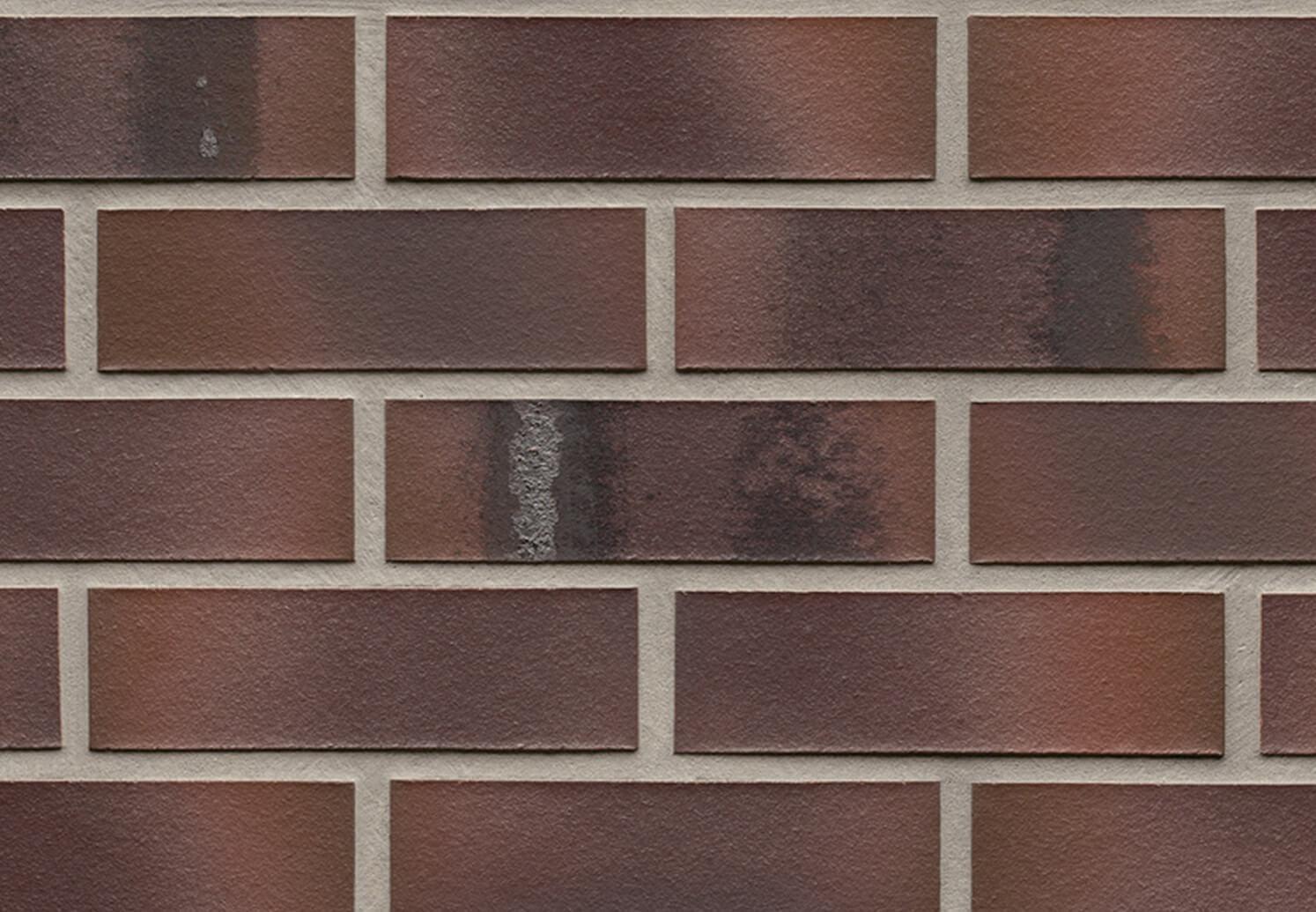 Облицовочная клинкерная плитка Feldhaus Klinker, Carbona, R561NF14, carmesi maritimo, поверхность расплавленный обжиг