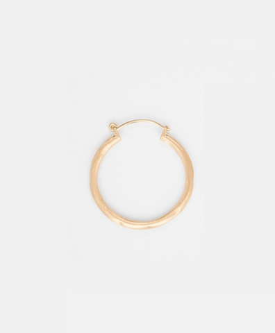 Моносерьга  ROUND HOOP GOLD medium